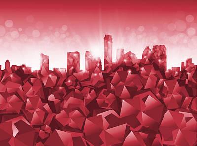 Painting - Austin Skyline Geometry by Bekim Art