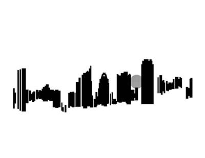 Acl Digital Art - Austin Skyline by Sheep McTavish