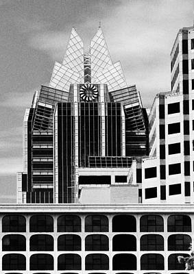 City Scape Digital Art - Austin Speaks In Black And White by Wendy J St Christopher