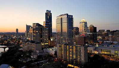Photograph - Austin Texas Sunset Skyline by Kristina Deane