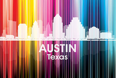 Digital Art - Austin Tx 2 by Angelina Vick