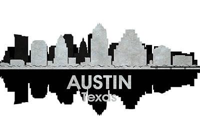 Abstract Skyline Mixed Media - Austin TX 4 by Angelina Tamez