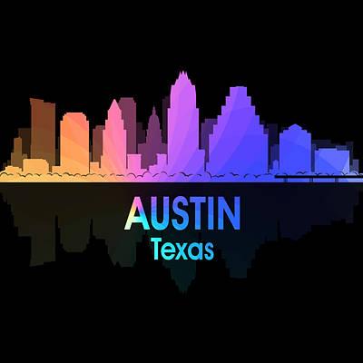 Skyscraper Mixed Media - Austin Tx 5 Squared by Angelina Vick