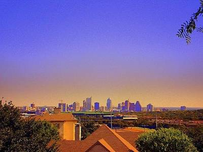 Ut Football Photograph - Austin Tx City Scape by Carol  Boldt