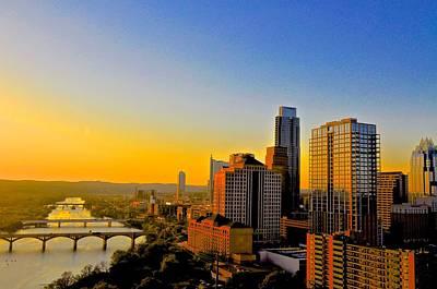Photograph - Austin's Golden Skyline by Kristina Deane