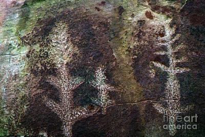 Photograph - Australia - Aboriginal Art - Ewaninga  by Jacqueline M Lewis