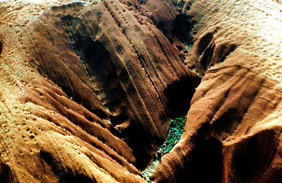 Photograph - Australia - Aerial Of Top Of Uluru by Jacqueline M Lewis