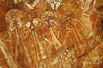 Photograph - Australia Ancient Aboriginal Art 3 by Bob Christopher