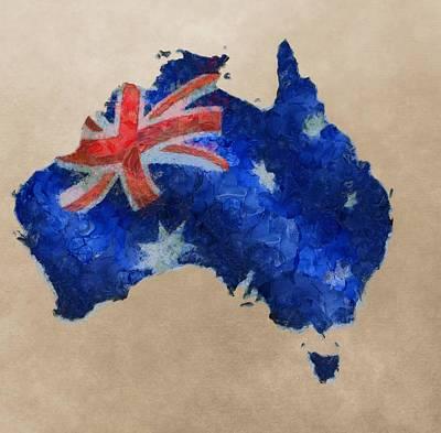 Australia Map Digital Art - Australia by Dan Sproul