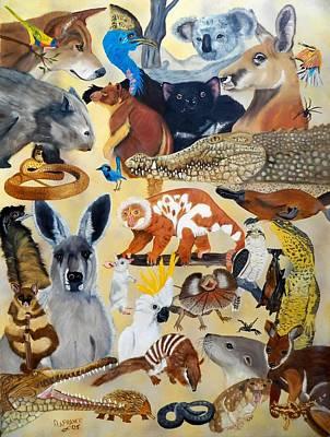 Koala Painting - Australia by Debbie LaFrance