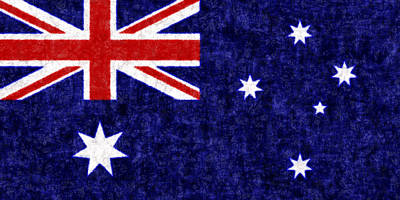 Batik Photograph - Australia Flag Batik by Kurt Van Wagner
