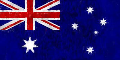 Australia Digital Art - Australia Flag by World Art Prints And Designs