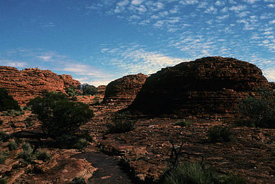 Photograph - Australia - King's Canyon Moonwalk Trial Grounds by Jacqueline M Lewis