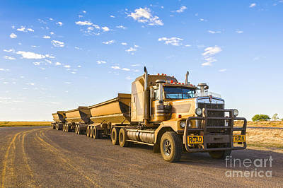 Australia Queensland Outback Road Train Art Print by Colin and Linda McKie