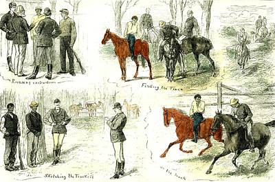 Fence Drawing - Australia Victoria Black Trackers 1881 by Australian School