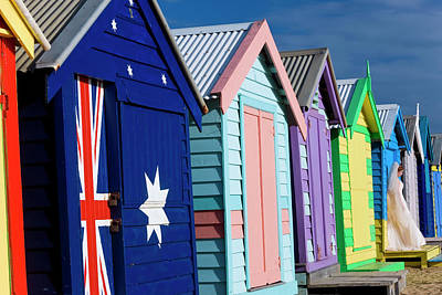 Australia, Victoria, Brighton Beach Art Print by Peter Adams