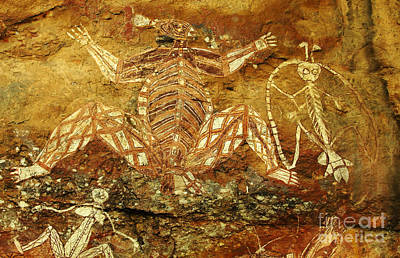 Photograph - Australia Ancient Aboriginal Art 1 by Bob Christopher