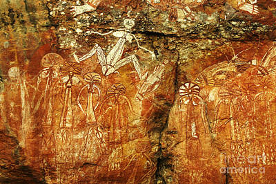 Photograph - Australia Ancient Aboriginal Art 2 by Bob Christopher