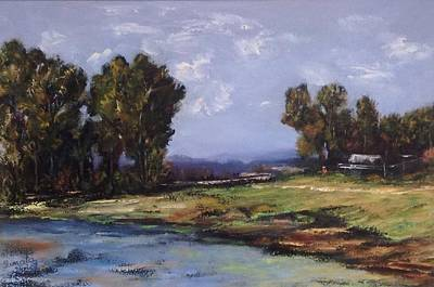 Painting - Australian Landscape By The Water  by Renate Voigt
