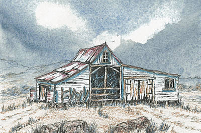 Painting - Australian Outback Homestead by David Clode