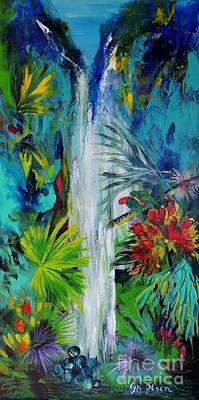 Art Print featuring the painting Australian Rainforest by Lyn Olsen