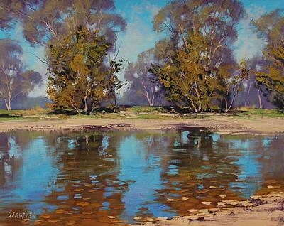 Beautiful Creek Painting - Australian River by Graham Gercken