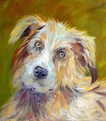 Art Print featuring the painting Australian Shepherd by Carol Berning