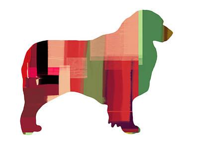 Puppy Mixed Media - Australian Sheppard by Naxart Studio