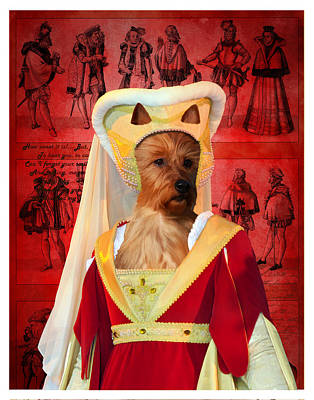 Painting - Australian Terrier Art Canvas Print - Noble Lady by Sandra Sij