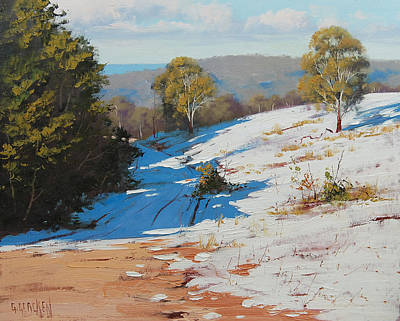 Corner Painting - Australian Winter Snow by Graham Gercken