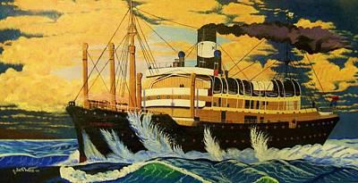 Lost At Sea Painting - Australia's Titanic--the Ss Waratah by Seth Wade