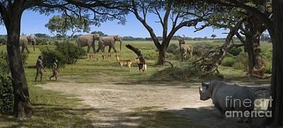 Elephant Photograph - Australopithecus Afarensis Landscape by Mauricio Anton