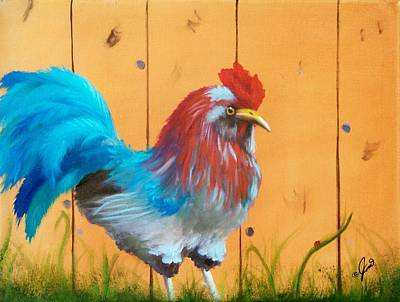 Painting - Australorp Rooster by Joni McPherson