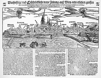 Viennese Painting - Austria Earthquake, 1590 by Granger