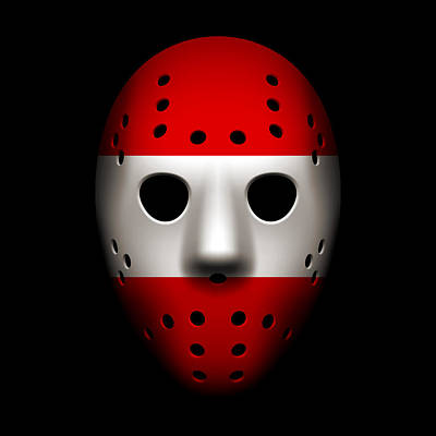Photograph - Austria Goalie Mask by Joe Hamilton