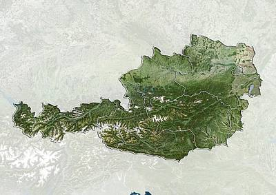 Styria Photograph - Austria, Satellite Image by Science Photo Library