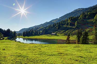 Photograph - Austria, Vorarlberg, View Of Lecknersee by Westend61