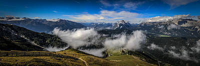 Photograph - Austrian Alpine Landscape  by Alex Saunders