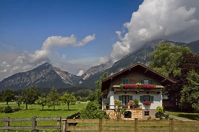 Country Cottage Photograph - Austrian Cottage by Debra and Dave Vanderlaan