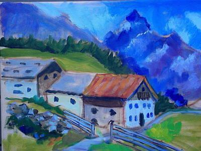 Austrian Farm Original by Mary   Robinson