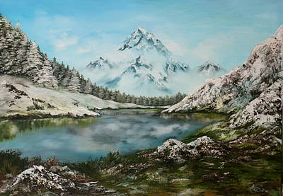 Art Print featuring the painting Austrian Lake by Jean Walker