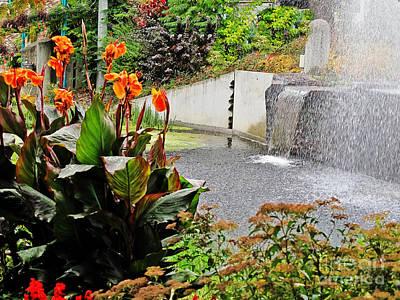 Photograph - Austrian Water Garden by Elvis Vaughn