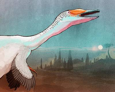 Austroraptor Dinosaur Art Print by Nemo Ramjet