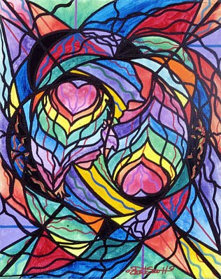 Sacred Geometry Painting - Authentic Relationship by Teal Eye  Print Store