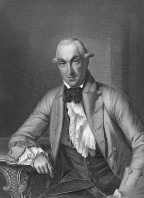 Engraving Photograph - Author Johann Heinrich Merck by Underwood Archives