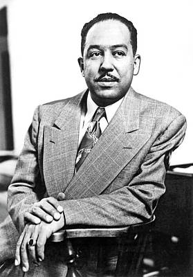 Author Langston Hughes Art Print by Underwood Archives