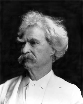 Author Mark Twain Art Print by Underwood Archives
