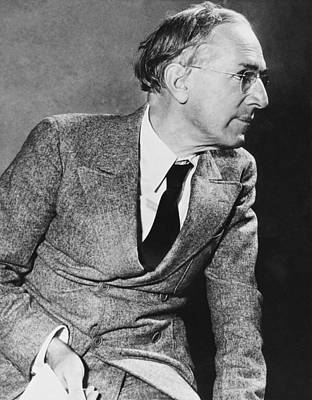 Upton Photograph - Author Upton Sinclair by Underwood Archives