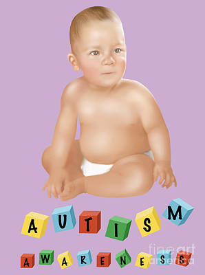 Autism Awareness Art Print by Gwen Shockey