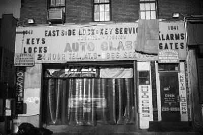 Photograph - Auto Glass New York 1990s by Dave Beckerman